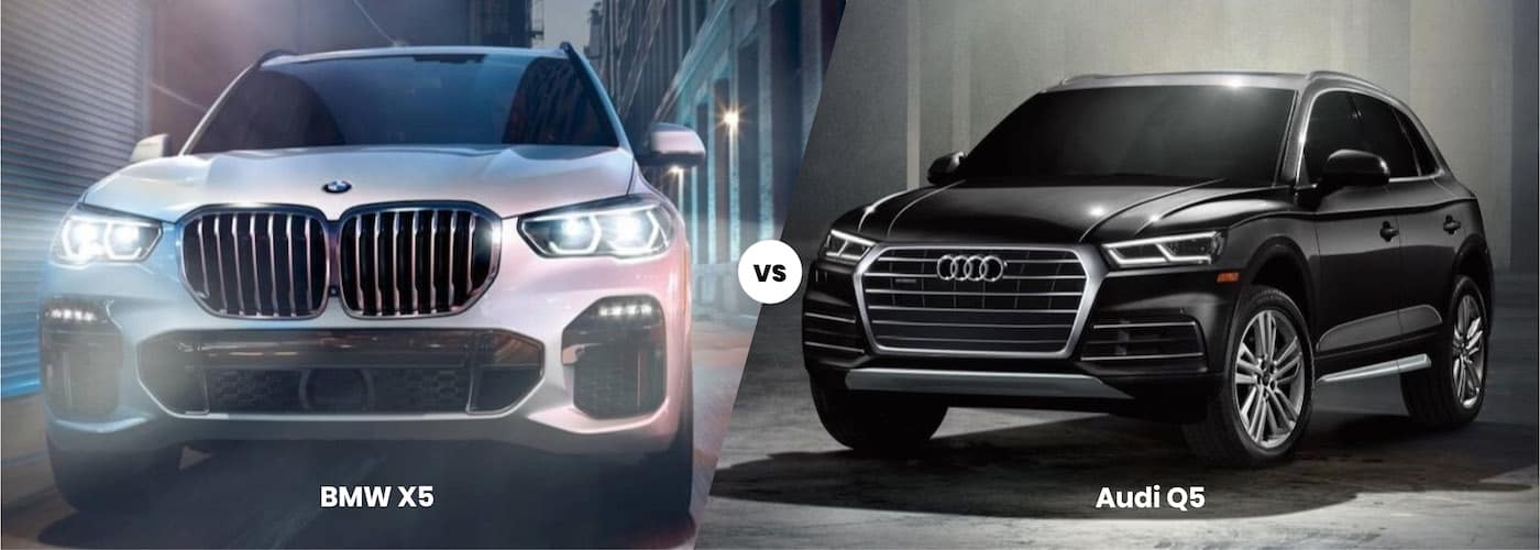 Side by side image of a BMW X5 vs. an Audi Q5