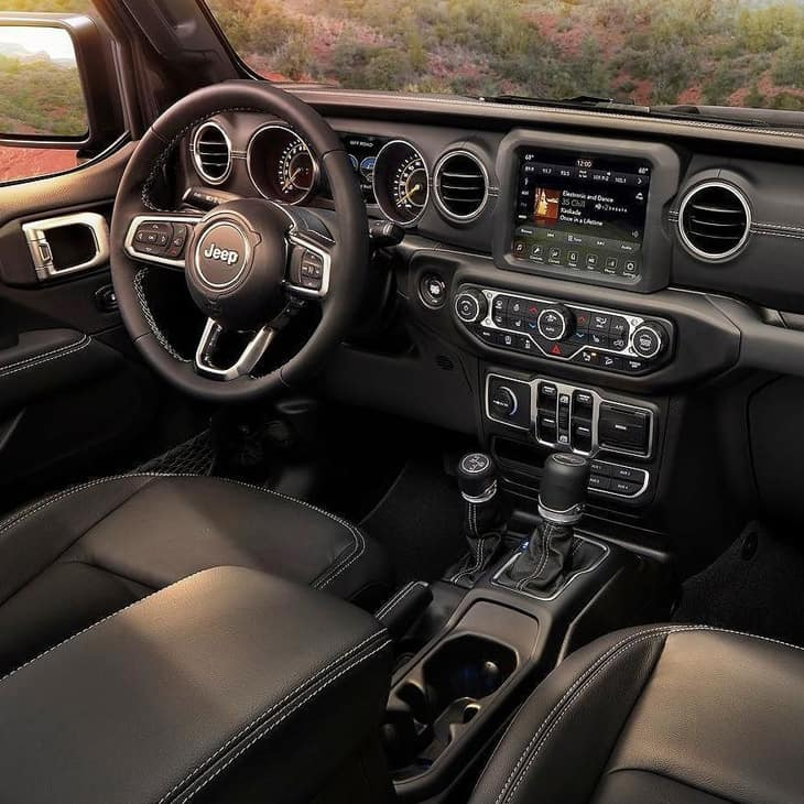 Jeep interior design