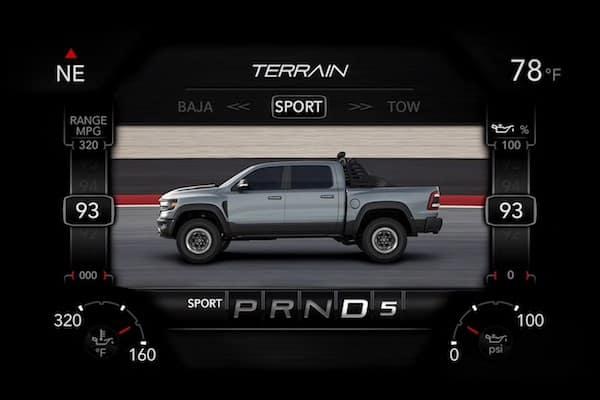 2021 RAM 1500 TRX sport driving mode