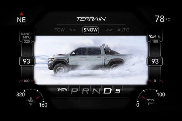 2021 RAM 1500 TRX snow terrain driving mode