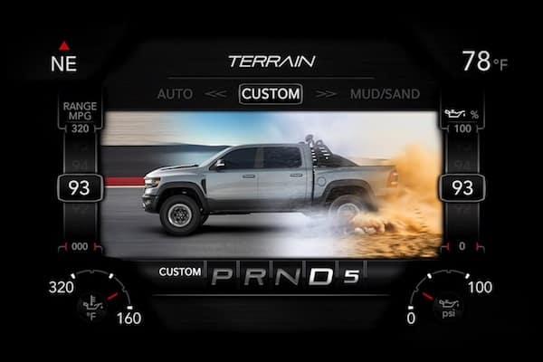 2021 RAM 1500 TRX custom driving mode