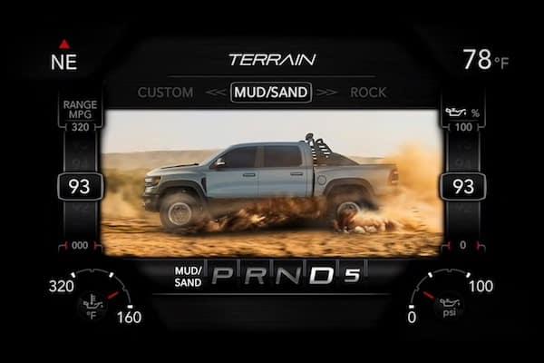 2021 RAM 1500 TRX mud/sand terrain driving mode