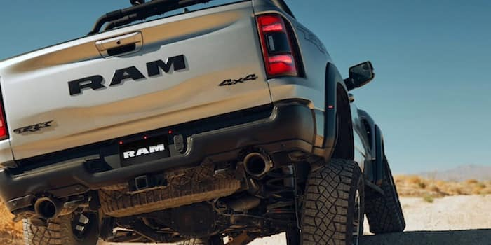 2021 RAM 1500 TRX equipped with performance-tuned dual exhaust system