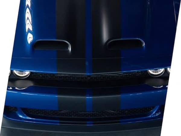 2021 Dodge Challenger SRT dual-snorkel hood