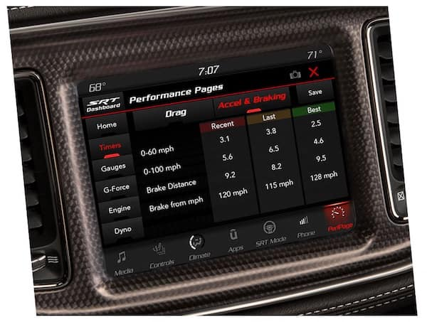 2021 Dodge Challenger available timers