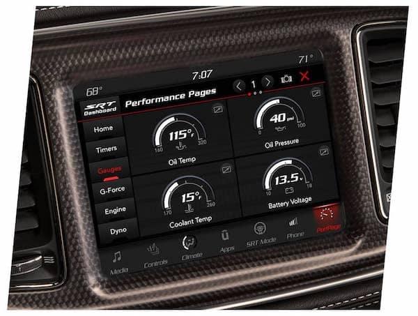 2021 Dodge Challenger available performance gauges