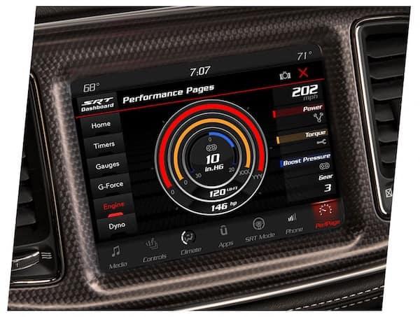 2021 Dodge Challenger engine gauge