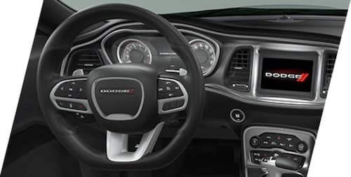 2021 Dodge Challenger performance flat-bottom leather wrapped steering wheel