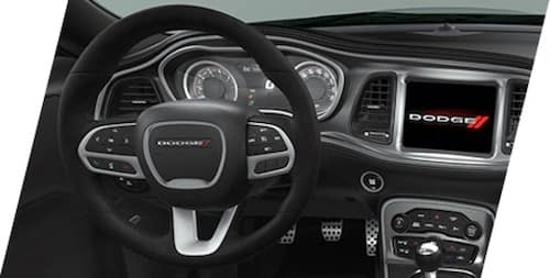 2021 Dodge Challenger performance four-bump suede-wrapped steering wheel