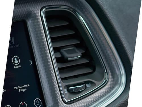 2021 Dodge Challenger suede headliner and carbon fiber interior accents