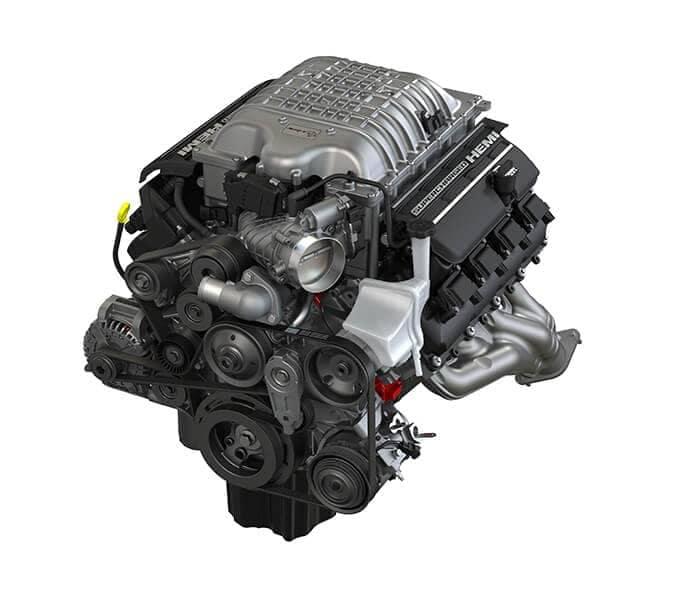 2021 Dodge Challenger Supercharged 6.2L High-Output HEMI V8 engine