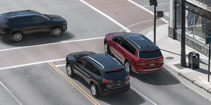 2021 Jeep Grand Cherokee L available intersection collision assist safety feature