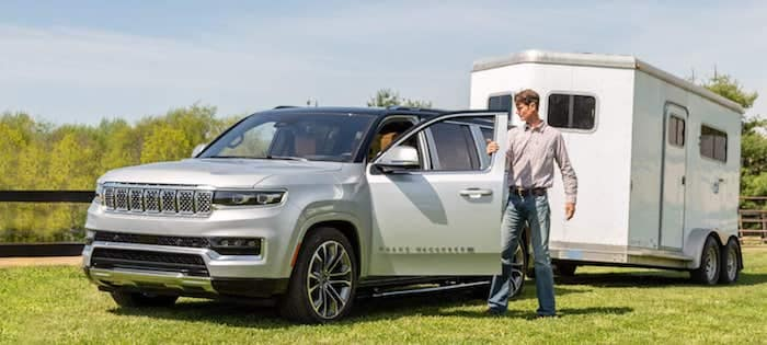 2022 Jeep Grand Wagoneer Best-in-Class Maximum Towing