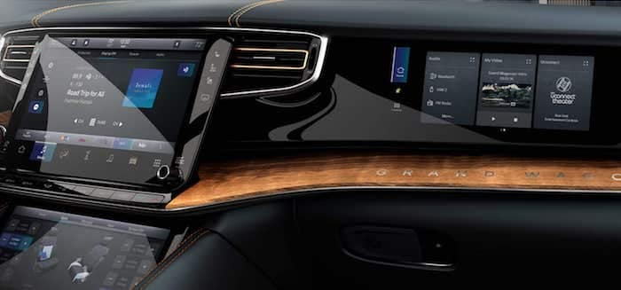 2022 Jeep Grand Wagoneer authentic wood and metal surfaces