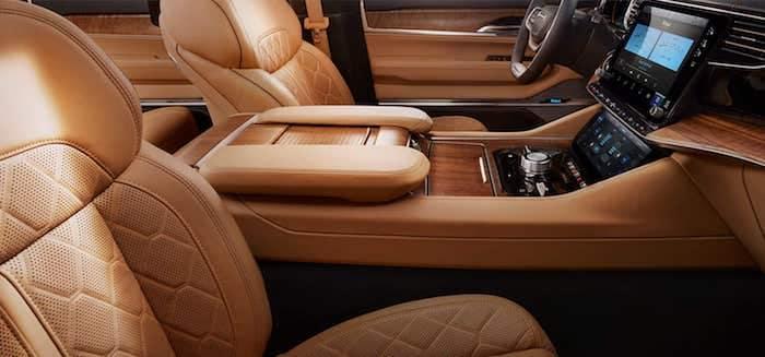 2022 Jeep Grand Wagoneer leather trim