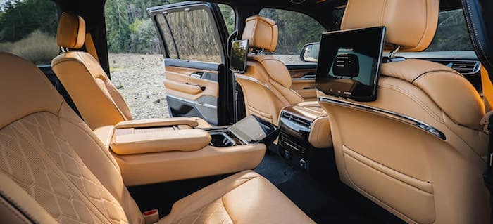 2022 Jeep Grand Wagoneer Best-in-Class Second-Row and Third-Row Legroom