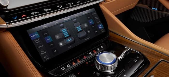 2022 Jeep Grand Wagoneer Articulating Lower Comfort Display