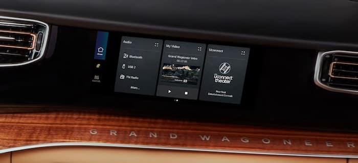 2022 Jeep Grand Wagoneer Class-Exclusive Passenger Interactive Display