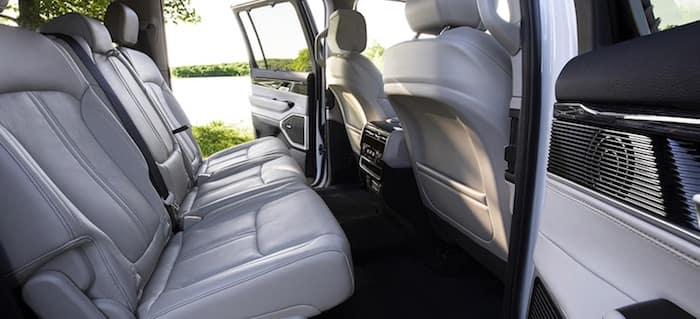 2022 Jeep Wagoneer best-in-class legroom