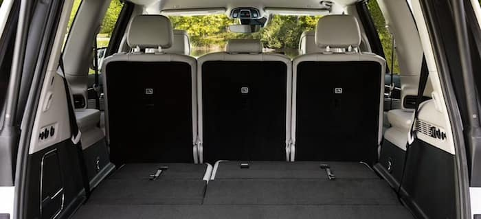 2022 Jeep Wagoneer available power folding third-row bench seat