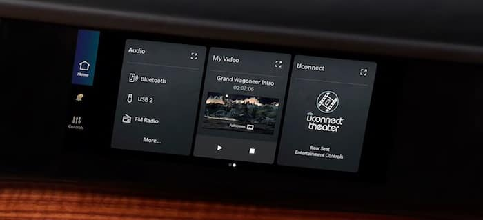 2022 Jeep Wagoneer class-executive available passenger interactive display