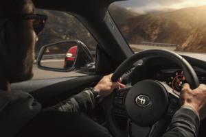 Driving a Toyota Supra