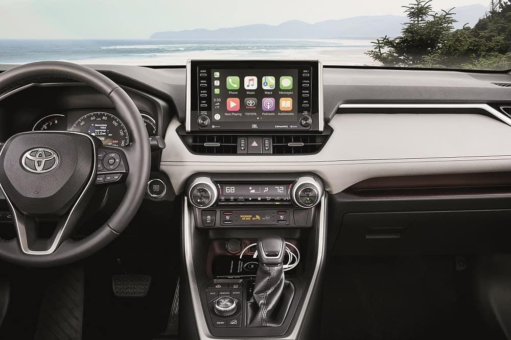 Toyota RAV4 Interior with Apple CarPlay® Technology
