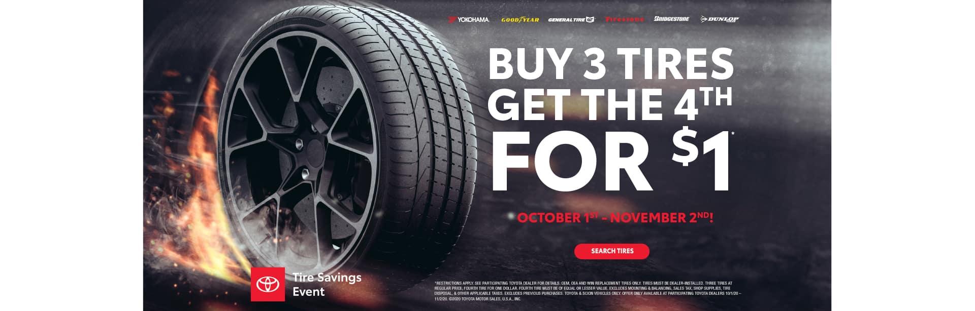 October Tire Sale