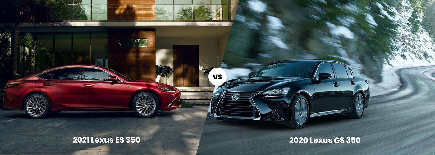 2021 Lexus ES vs 2020 Lexus GS