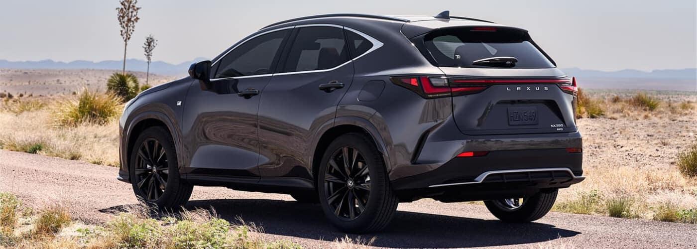 2022 Lexus NX parked in the desert