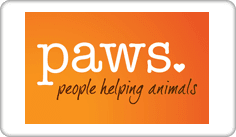 Paws. People helping animals Logo