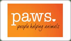 Paws. People helping animals Logo