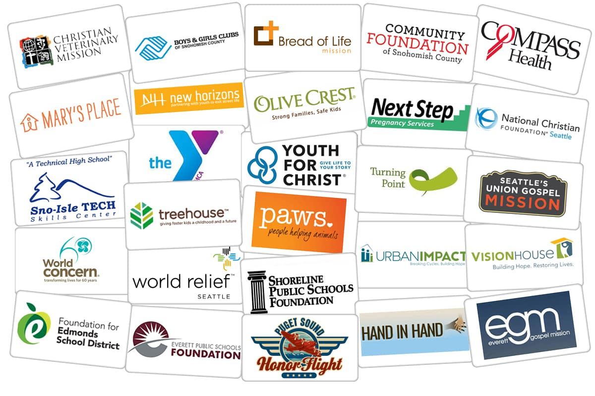 all the non-profits we support