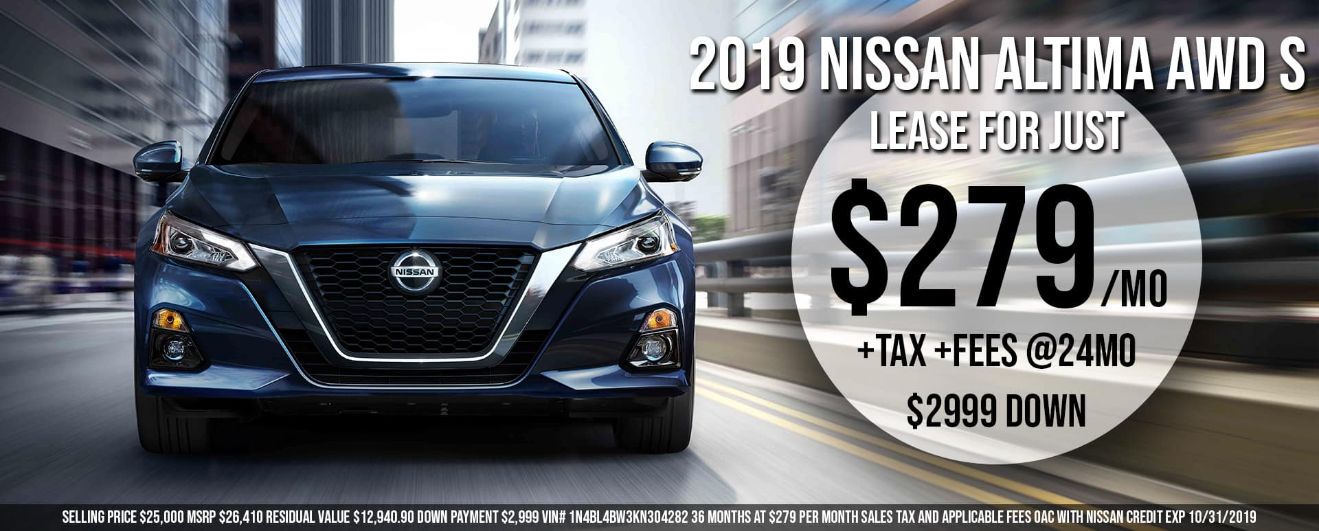 Lease an Altima for $279/mo!