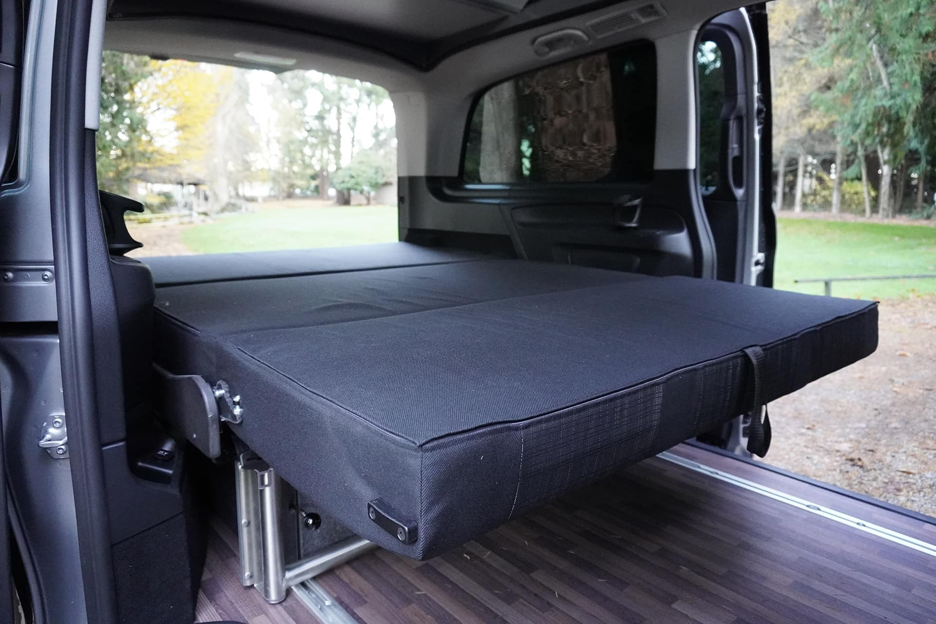 Backroad Metris Camper Bed Setup