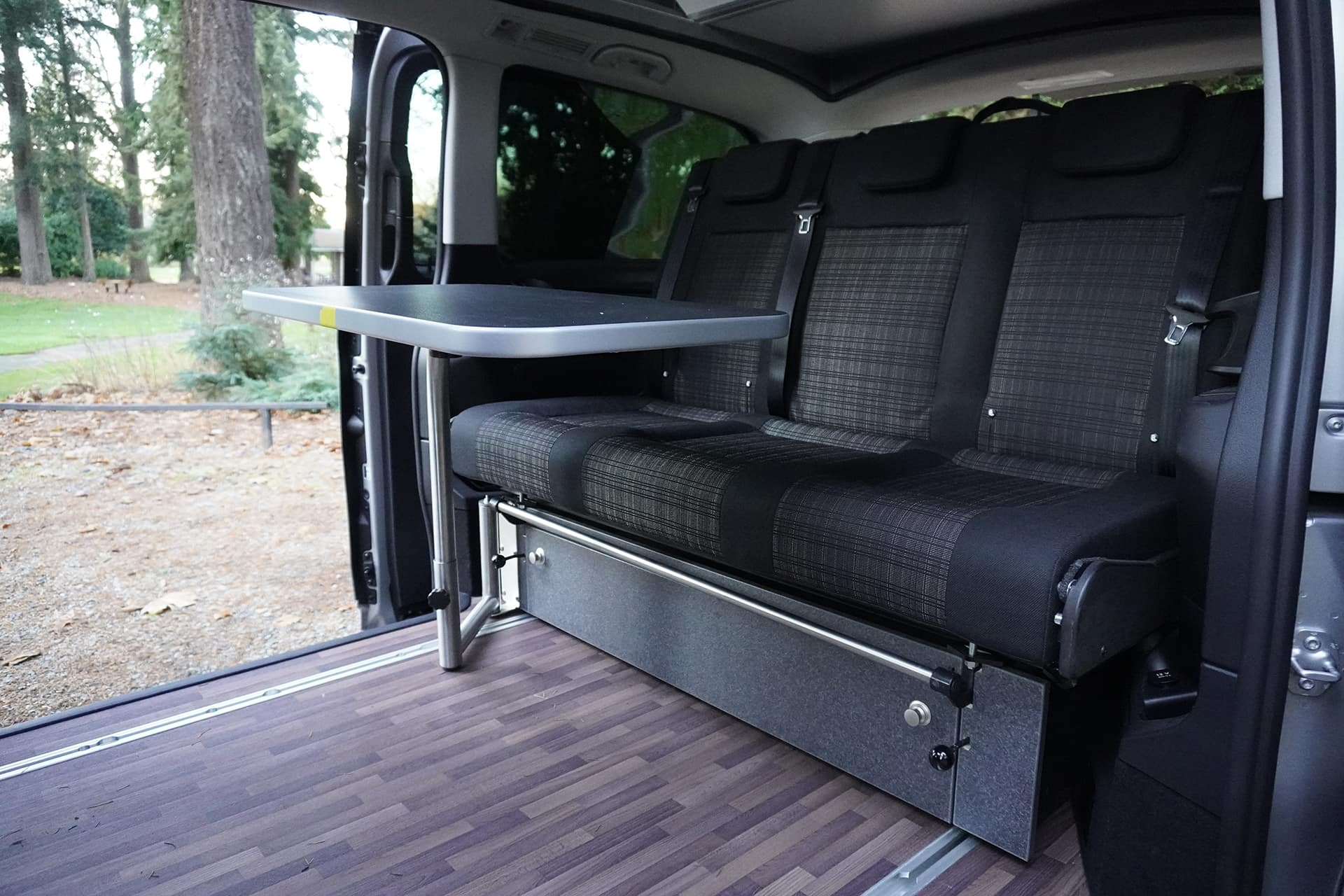 table setup on 2019 metris campervan backroad