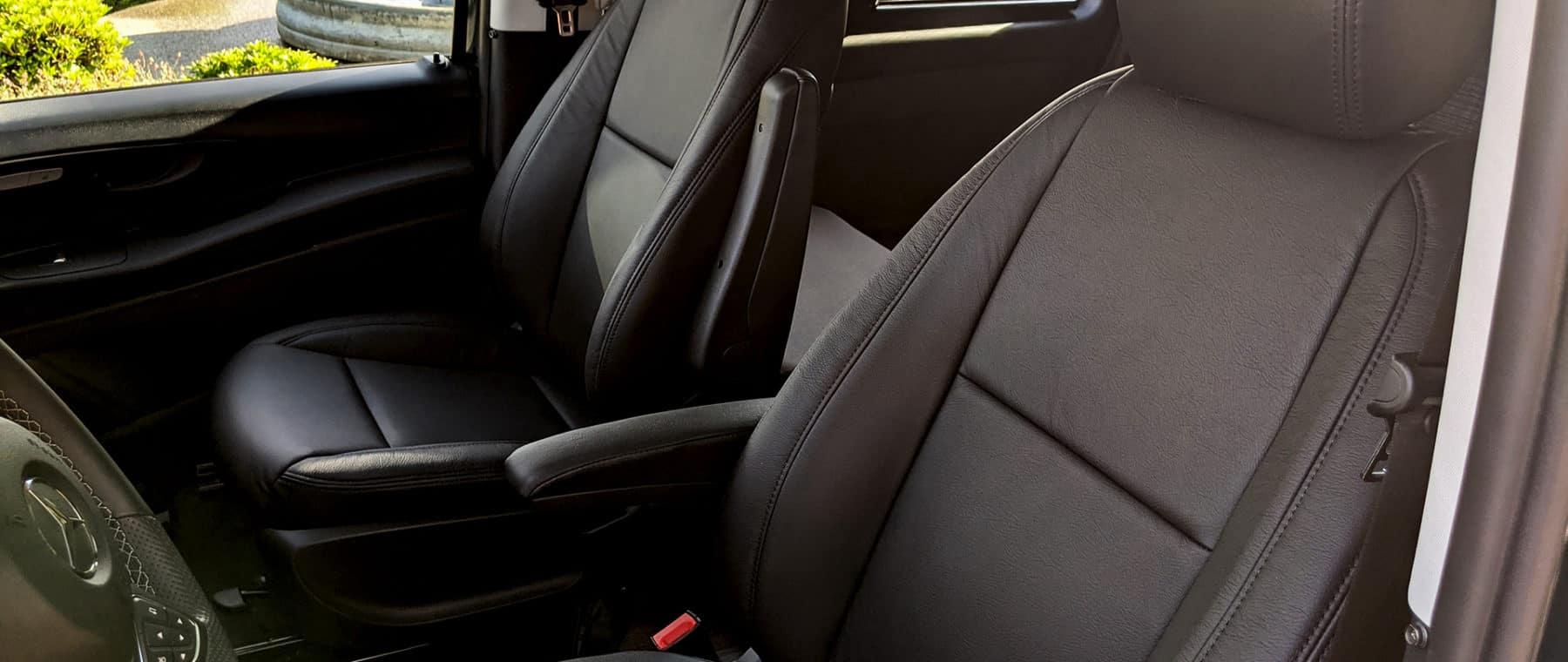 Optional Leather Seats for Backroad Camper Van