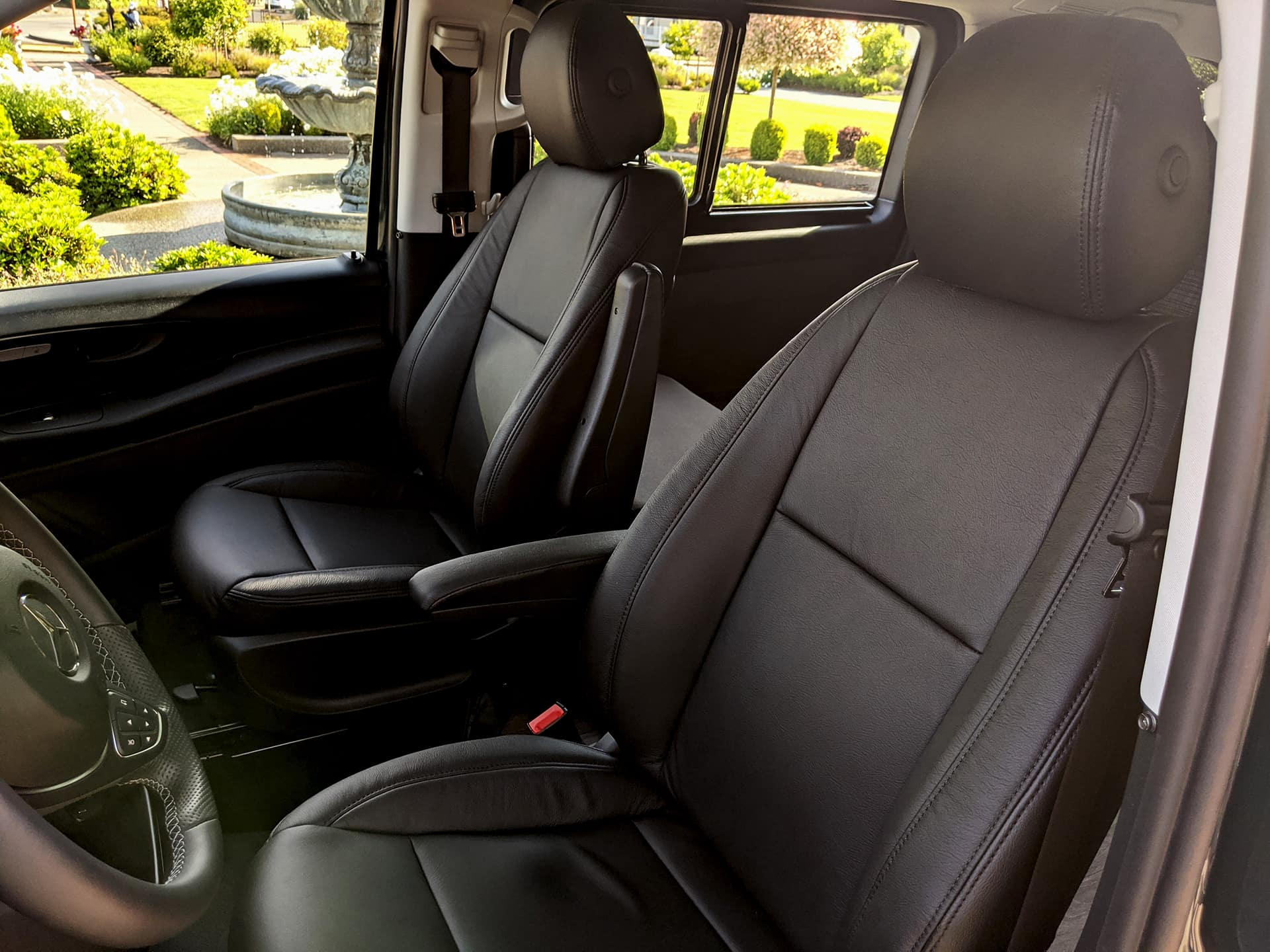 Optional Leather Seats for Backroad Camper Van