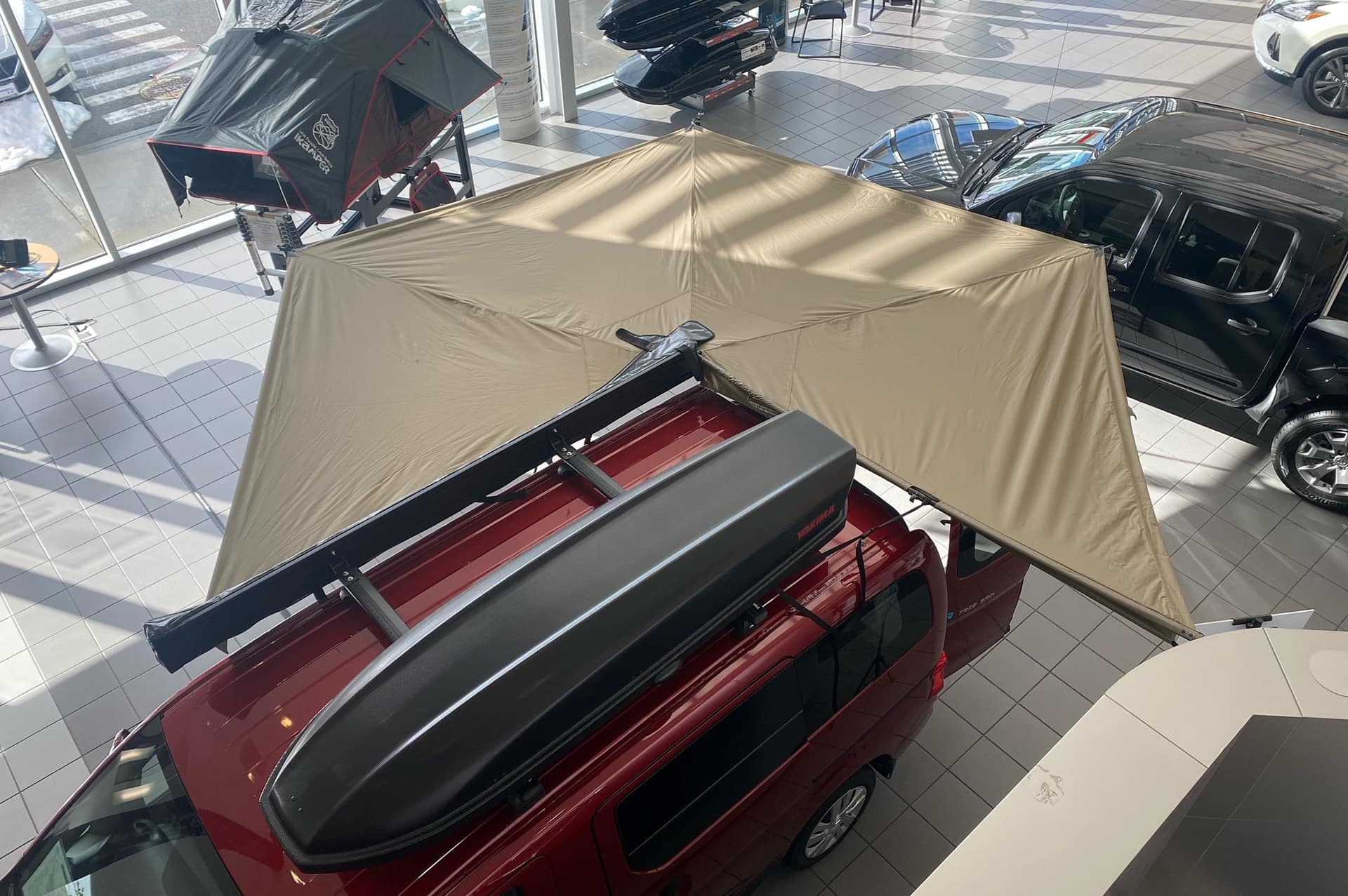 Optional wrap around awning