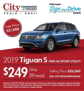 2019 Volkswagen Tiguan S FWD