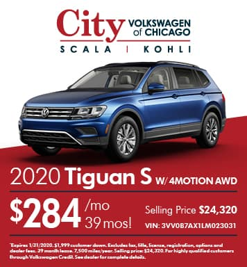 2020 Volkswagen Tiguan S with 4MOTION® AWD