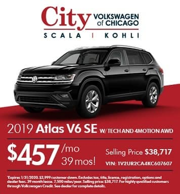 2019 Volkswagen Atlas V6 SE with Technology and 4MOTION® AWD