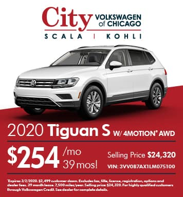 2020 Tiguan S with 4Motion AWD