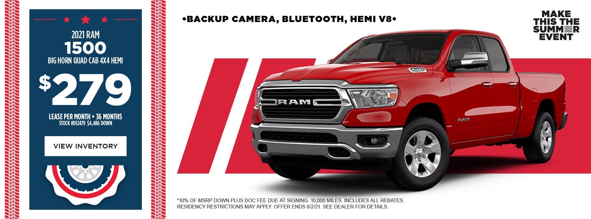 2021 RAM 1500 Big Horn Quad Cab 4x4 HEMI