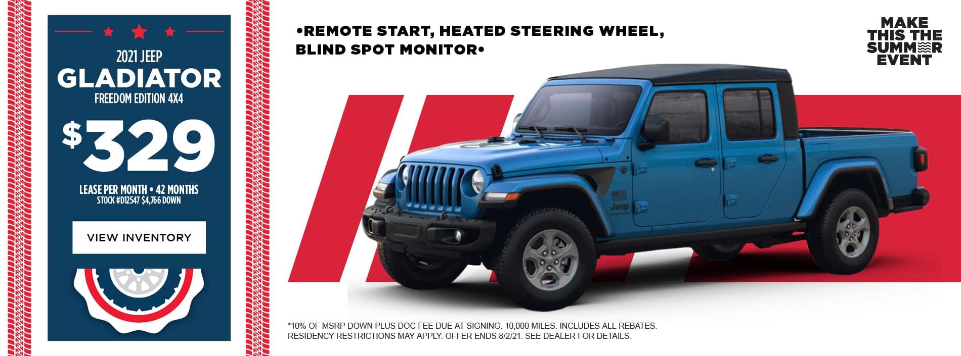 2021 Jeep Gladiator Freedom Edition 4x4