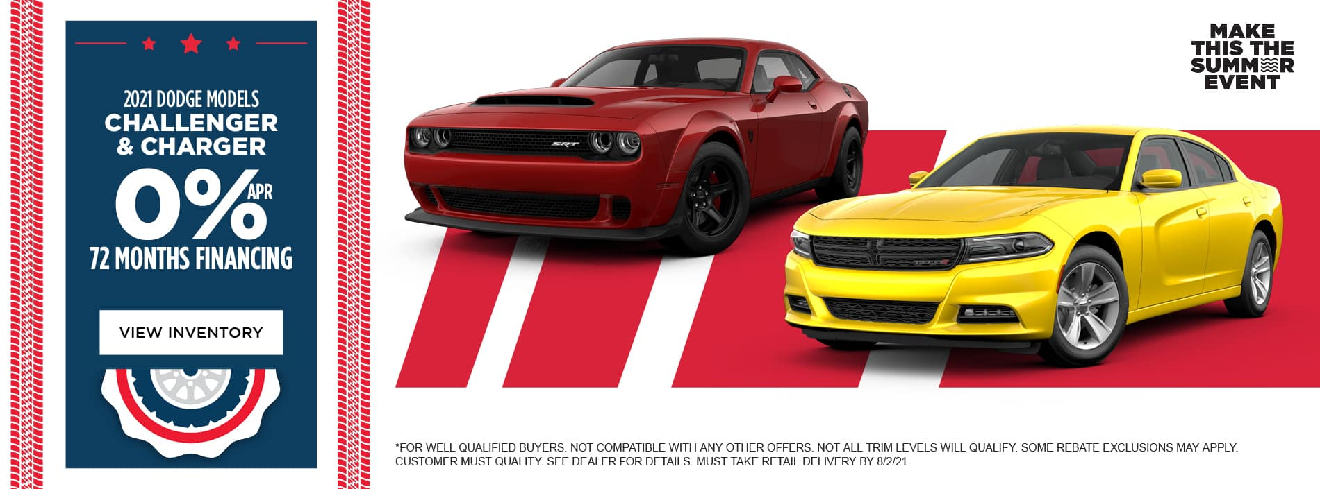 0% APR for 72 months 2021 Dodge Challenger 2021 Dodge Charger