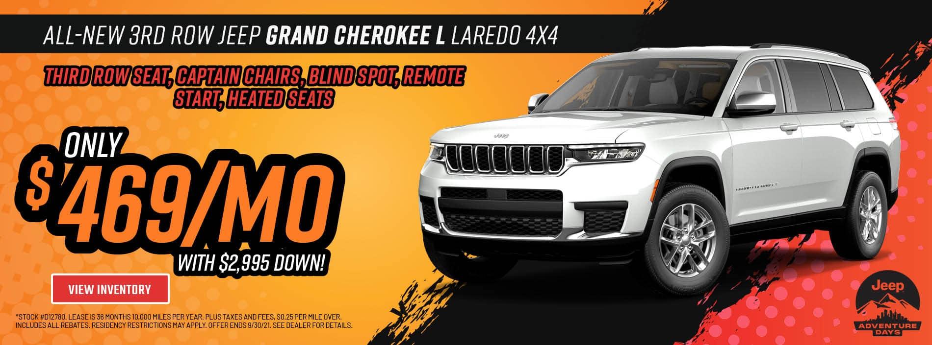 All-New 3rd Row 2021 Jeep Grand Cherokee L Laredo 4x4