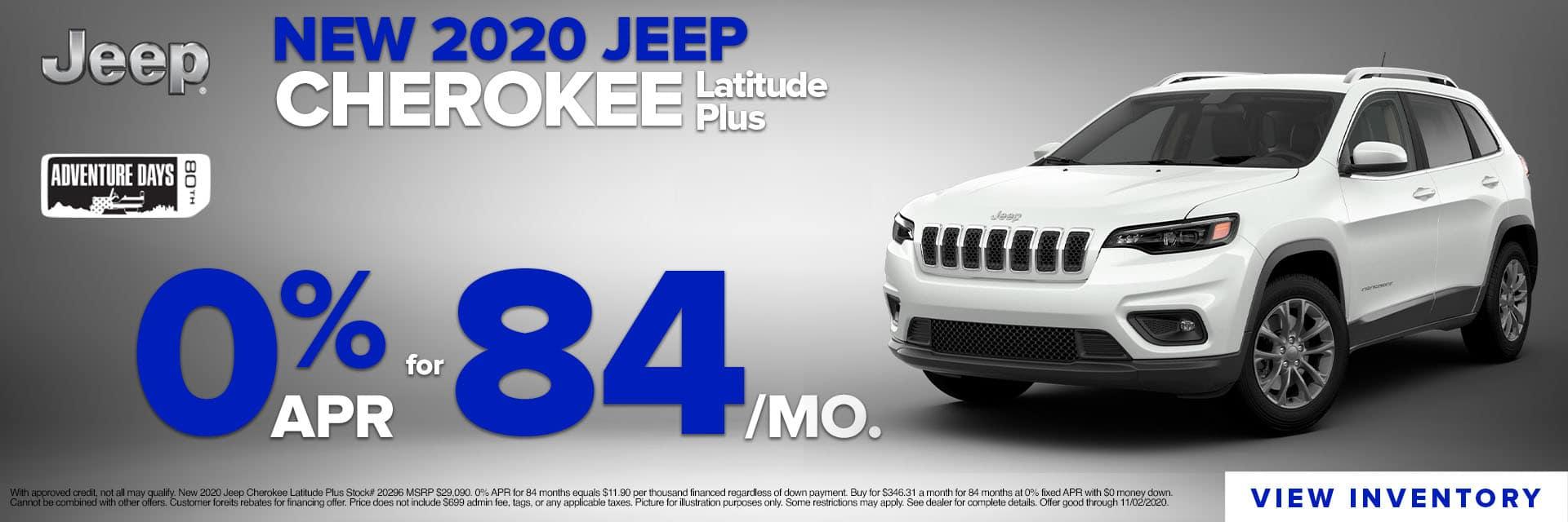 CLGO-October 2020-2020 Jeep Cherokee Inspire Slider