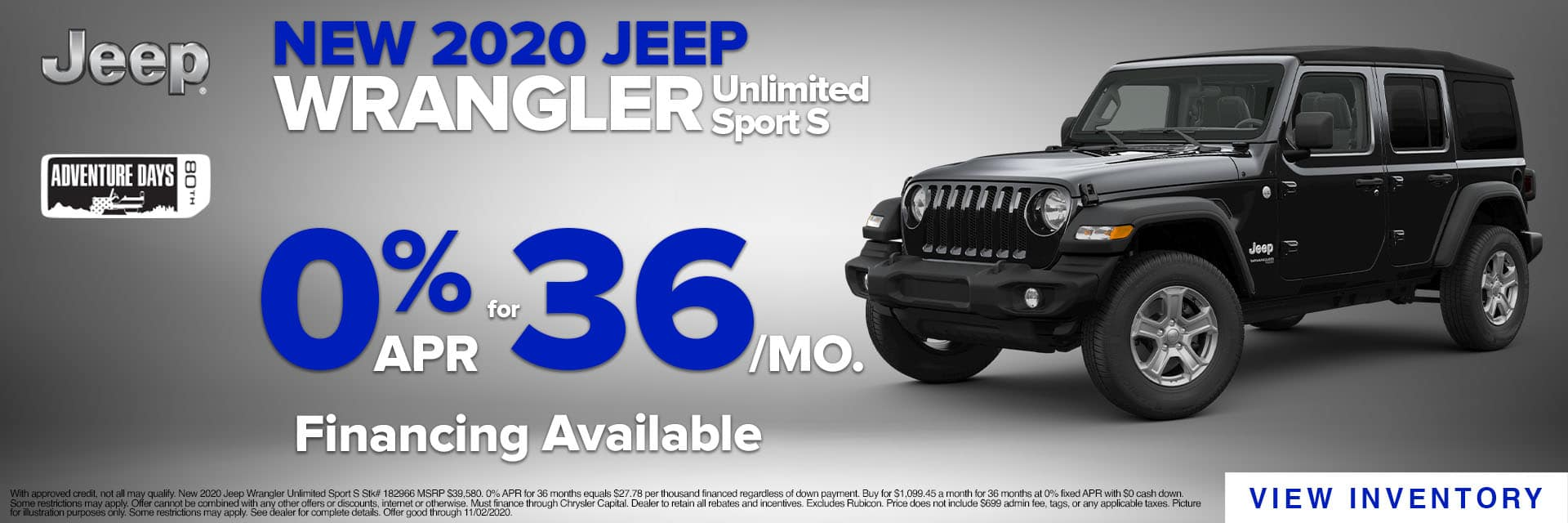 CLGO-October 2020-2020 Jeep Wrangler Inspire Slider