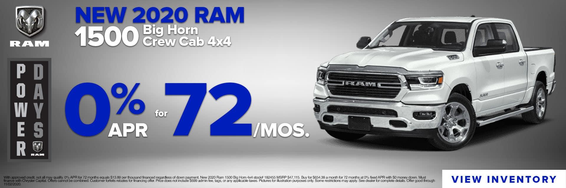 CLGO-October 2020-2020 Ram 1500 Big Horn 4×4 Slider